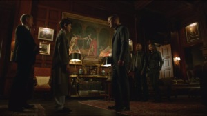 Penguin's Umbrella- Gordon introduces Bruce to Montoya and Allen