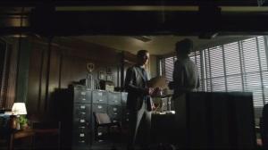Penguin's Umbrella- Gordon tells Captain Essen that he plans to arrest the mayor and Carmine Falcone