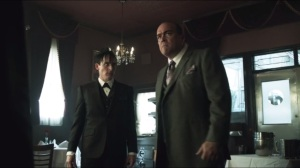 Penguin's Umbrella- Maroni isn't happy about Falcone stopping his gun trucks