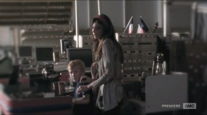 Self-Help- Ellen, played by Andrea Moore, and two kids