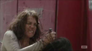 Self-Help- Maggie stabs a walker