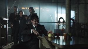 The Mask- Penguin's men bring Timothy to him