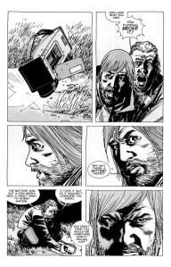 The Walking Dead #67- Eugene's radio has no battery inside