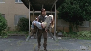 Coda- Daryl carries Beth's body out of the hospital