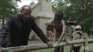 Coda- Michonne asks Gabriel where he went when he left the church