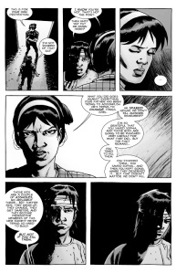 The Walking Dead #135- Maggie admonishes Carl for his actions