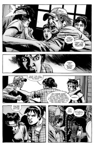 The Walking Dead #135- Maggie prevents a fight from breaking out