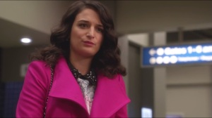 I'm a Motherfucking Scorpion, That's Why- Jenny Slate in a pink blazer