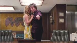 Inherent Vice- Dr.Rudy Blatnoyd, D.D.S., played by Martin Short, with Japonica Fenway, played by Sasha Pieterse
