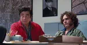 Inherent Vice- Sauncho Smilax, played by Benicio Del Toro, springs the Doc