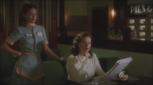 Now is Not the End- At the L&L Automat, Peggie with waitress Angie Martinelli, played by Lyndsy Fonseca