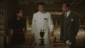 Now is Not the End- Peggy and Jarvis speak with Dr. Anton Vanko, played by Costa Ronin