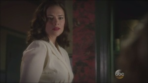 Now is Not the End- Peggy Carter tells her roommate, Colleen, played by Ashley Hinshaw, to get some rest