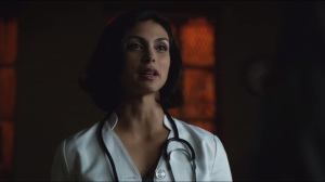 Rogues Gallery- Dr. Leslie Thompkins, played by Morena Baccarin