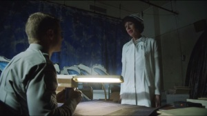 Rogues Gallery- Gordon asks Nurse Duncan about additional files, learns the basement has been sealed off