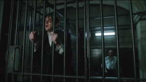 Rogues Gallery- Penguin calls out to Bullock from his holding cell