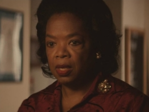 Selma- Annie Lee Cooper, played by Oprah Winfrey, attempts to register to vote