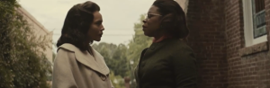 Selma- Diane Nash, played by Tessa Thompson, speaks with Annie Lee