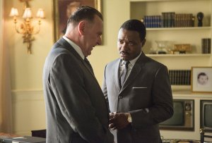Selma- King speaks with President Lyndon Johnson, played by Tom Wilkinson