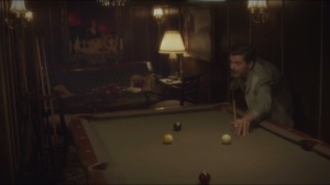 The Blitzkrieg Button- Howard Stark plays pool