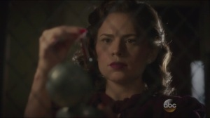 The Blitzkrieg Button- Peggy finds a vial in the Blitzkrieg button