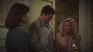 The Blitzkrieg Button- Peggy finds Howard fooling around with Lorraine, played by Sarah Schreiber