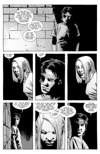 The Walking Dead #136- Carl tells Lydia that his group is done moving