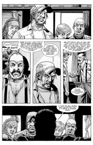 The Walking Dead #136- Gregory leads discussion over whether to kill Maggie