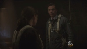 Time and Tide- In the sewers, Peggy tells Jarvis that she doesn't need to know the details of his past