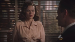 Time and Tide- Peggy sacrifices professionalism to get Jarvis out of interrogation