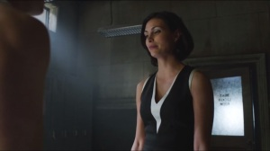 What the Little Bird Told Him- Dr. Thompkins in the GCPD men's locker room