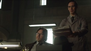 What the Little Bird Told Him- Nygma and his stack of folders