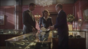 A Sin to Err- Albert, played by Steven Hack, gives Peggy and Edwin a list of women who received jewelry from Howard
