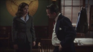 A Sin to Err- Dooley has a word with Peggy about Leviathan and Howard Stark