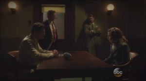 A Sin to Err- Peggy brought into interrogation