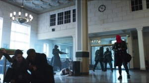 Red Hood- First bank heist