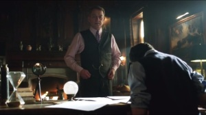 The Blind Fortune Teller- Alfred informs Bruce that the foundation has agreed to meeting with him