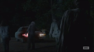 The Distance- Glenn drives through walkers