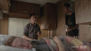 The Distance- Noah offers painkillers and water to Aaron