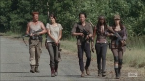 The Distance- On the road with Abraham, Maggie, Glenn, Michonne, and Rosita