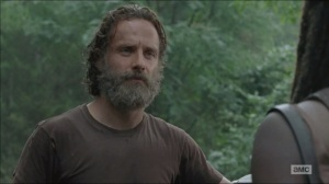 The Distance- Rick and Michonne talk about the rules changing