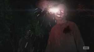 The Distance- Rick fires the flare gun at a walker