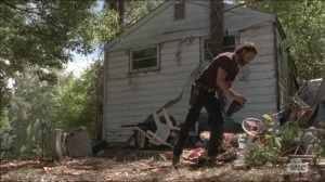 The Distance- Rick hides a gun