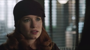 The Fearsome Dr. Crane- Bullock meets Jodowsky's sponsor- Scottie Mullen, played by Maria Thayer