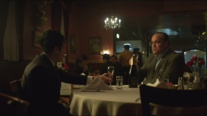 The Fearsome Dr. Crane- Maroni and Penguin toast to Fish being gone from Gotham