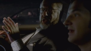 The Next Olive Branch Goes Straight Up Your Ass- Clyde picks up his father, played by Fred Melamed, from the airport