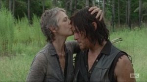 Them- Carol kisses Daryl on the forehead