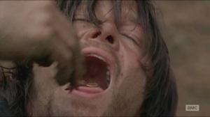 Them- Daryl eats a worm
