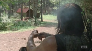 Them- Daryl smokes and finds a cabin
