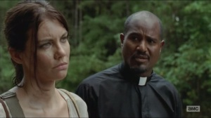 Them- Gabriel tries to talk with Maggie about Beth and faith